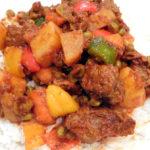 beef caldereta without liver paste