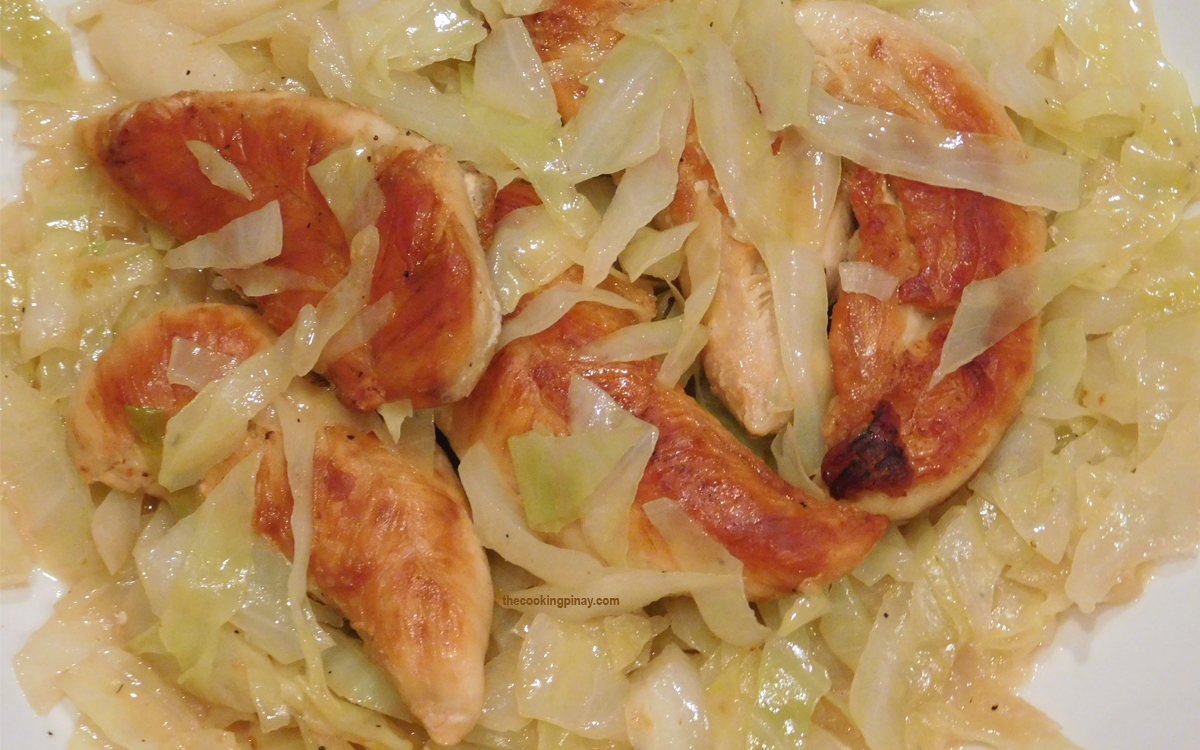 One Pan Chicken and Cabbage in Coconut Milk