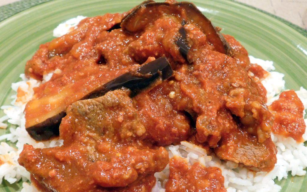 beef caldereta with eggplant - the cooking pinay